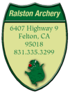 Bow Decal for Ralston Archery, Felton CA